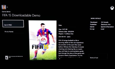 The FIFA 15 demo release date is here on Xbox One and arrives tomorrow on PC, PS4, PS3 and Xbox 360.