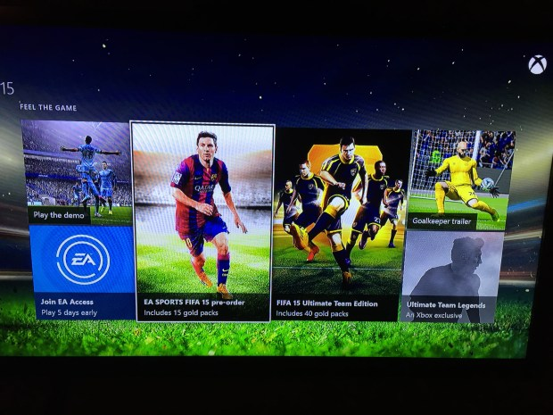 Choose the FIFA 15 pre-order.