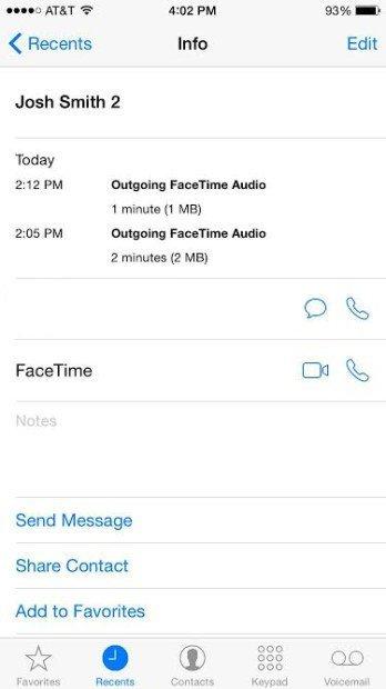 FaceTime-Audio-iPhone 6 iOS 8