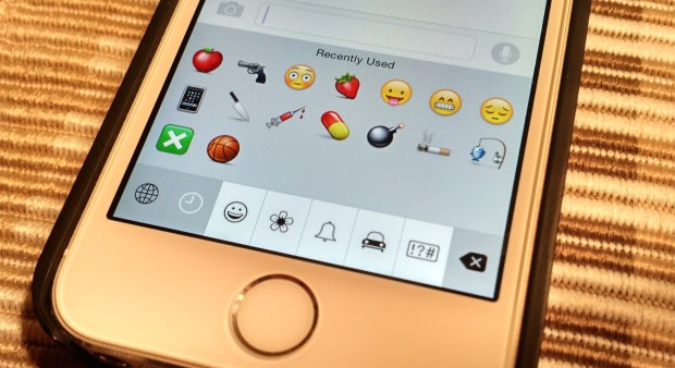 Turn on the iOS 8 Emoji keyboard.