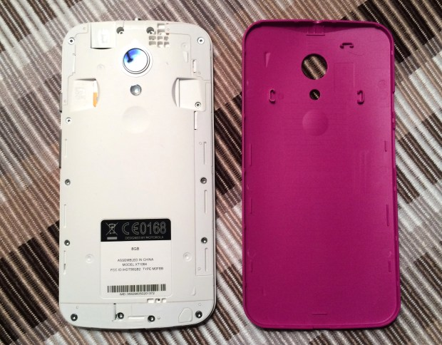 The new Moto G back is removable, but there is not a replaceable battery.