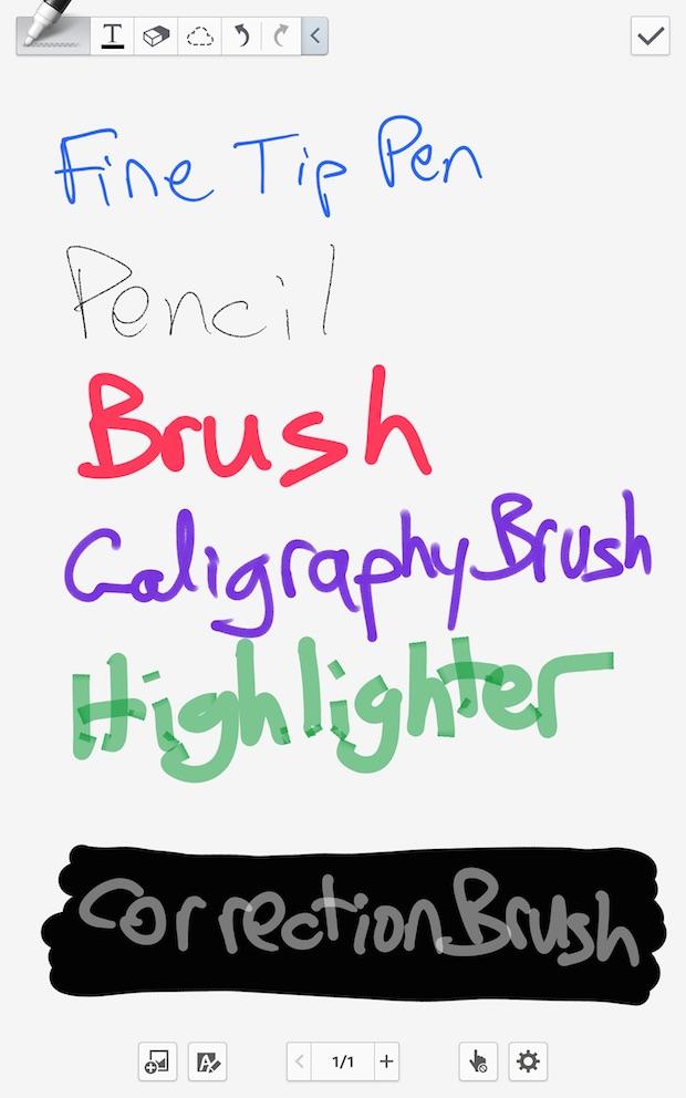 S Note Pen Styles