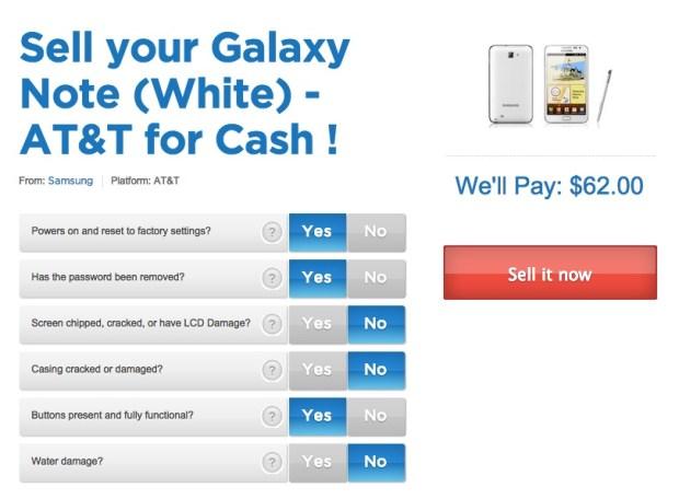 nextworth samsung galaxy note trade-in values