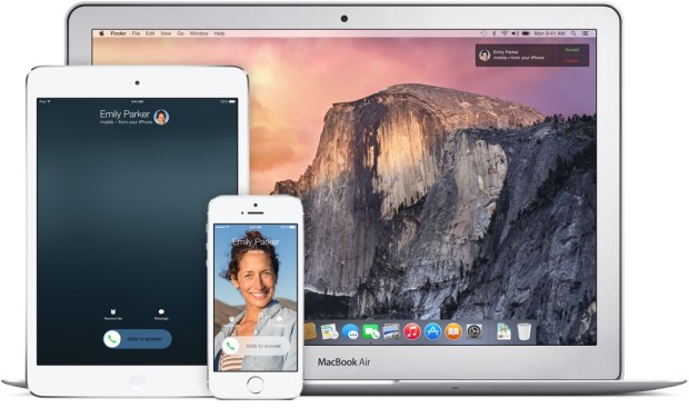 Take a call on the iPad and reply to regular text messages in iOS 8.