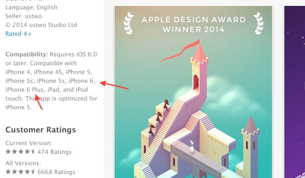 We are seeing iPhone 6 app compatibility listed in the app store.