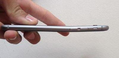 One example of the iPhone 6 bending.