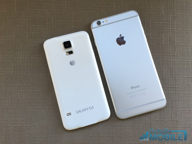 The iPhone 6 Plus is bigger than the Galaxy S5.