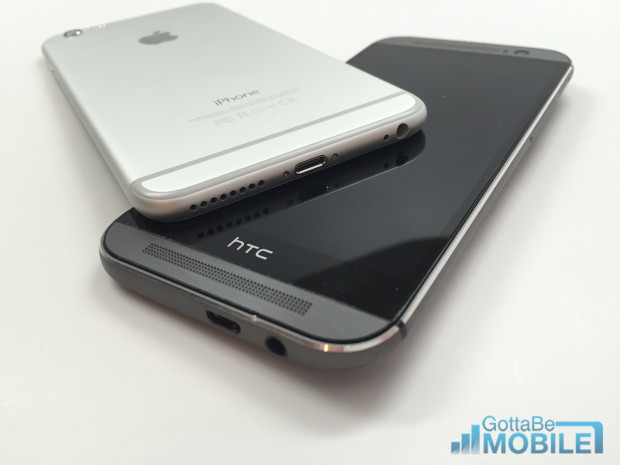 The HTC One M8 speakers sound better than anything the iPhone 6 Plus can put out.