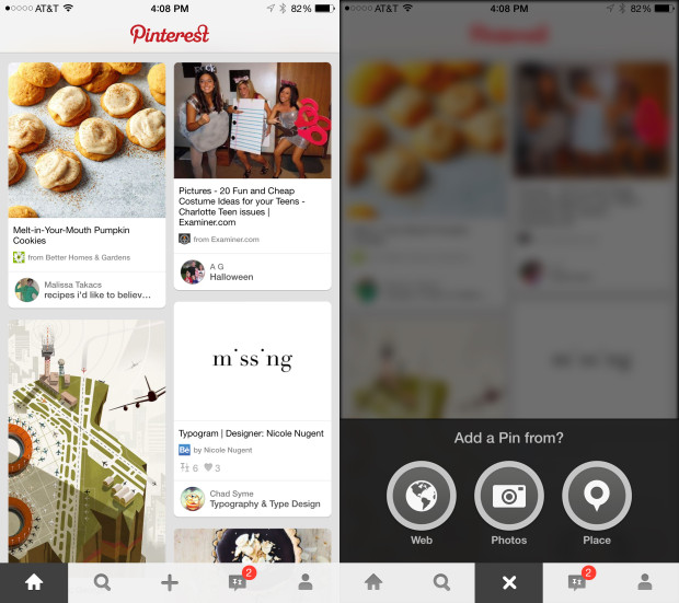Pinterest projects and photos look great on the iPhone 6 Plus.