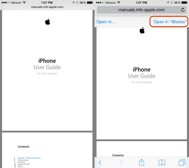Download and save the iPhone 6 manual for use later.