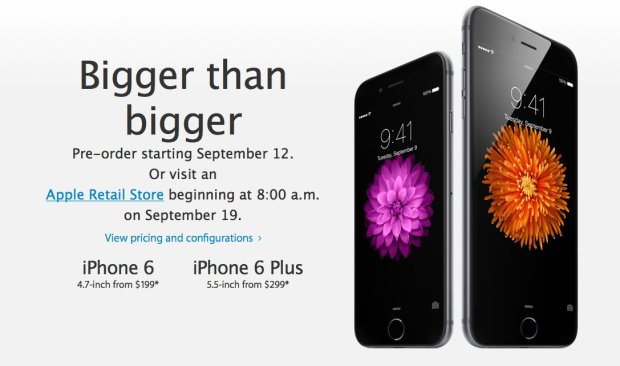 Quick reminder. The iPhone 6 pre-orders start tonight.