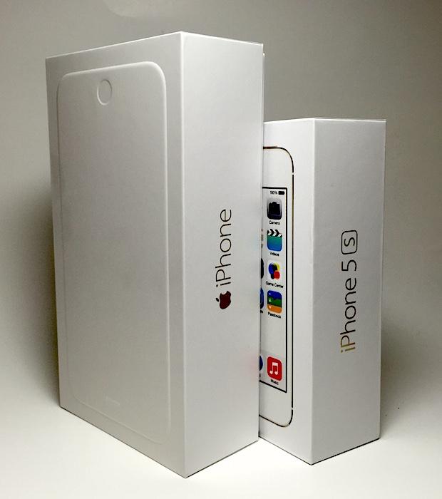 iphone 6 plus iphone 5 box comparison