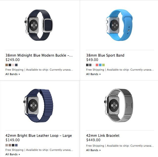 Apple Watch band prices aren't cheap.