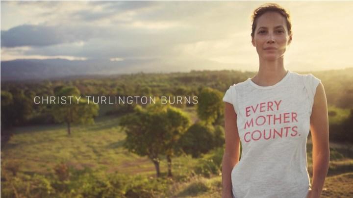 Christy Turlington Burns wore the Apple Watch for a half marathon.