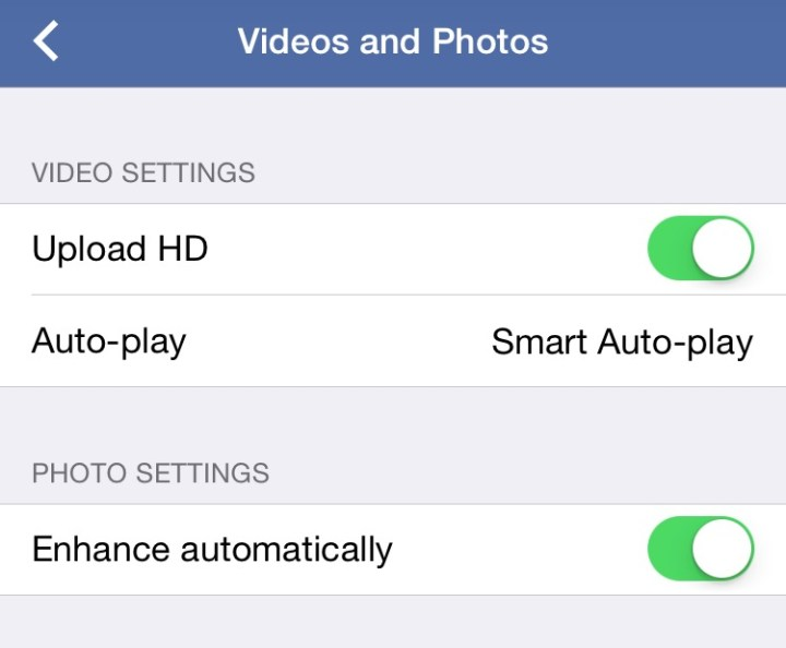 Upload HD videos to Facebook by default.