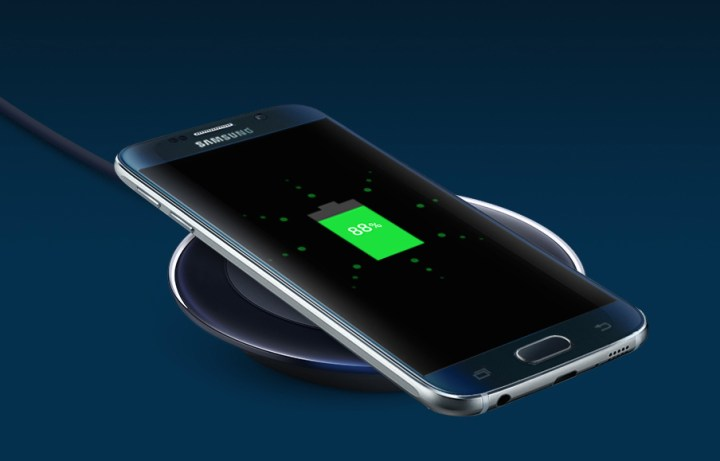 The Galaxy S6 includes built-in wireless charging.