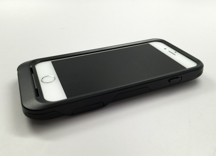 A small lip protects the screen, but there is no screen protector.