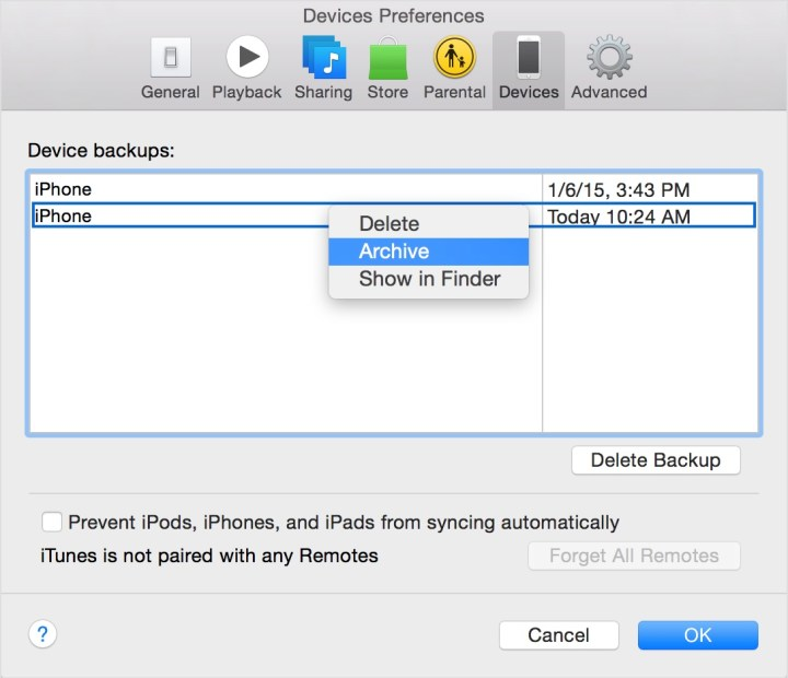 Archive a backup before you install the iOS 8.3 beta.