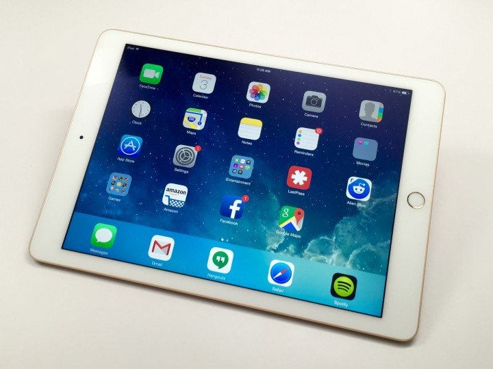 The iPad Air 2 display is the same size and resolution, but it looks better than the iPad Air.