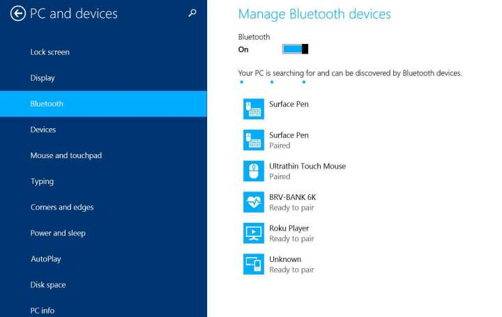 pairing bluetooth with surface pro 3