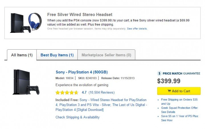 ps4 silver headset best buy deal
