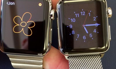 You can use Apple Watch bands like the Link Bracelet or Milanese Loop on the Apple Watch Sport.