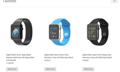 If you set a favorite you are one step closer to adding the Apple Watch to your cart.