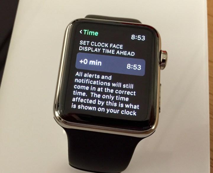 Apple Watch Set Time Ahead