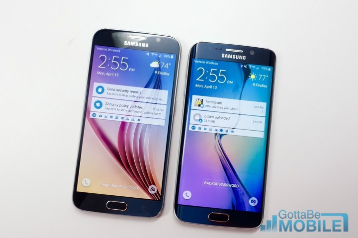 The curved edges of the Galaxy S6 Edge look great.