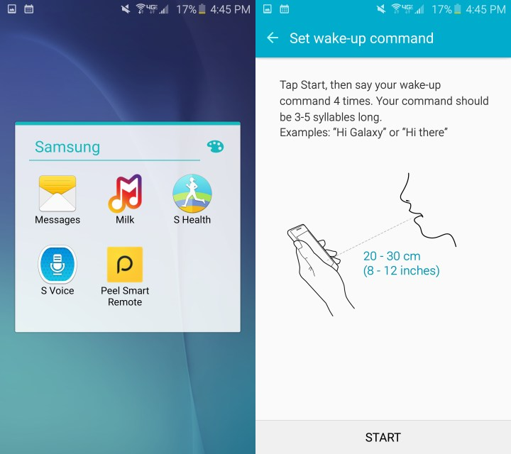 Set a wake up command to use S Voice easier.