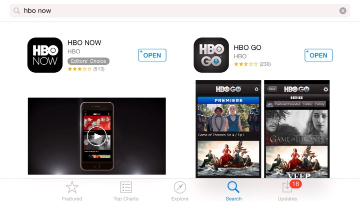 HBO Now and HBO Go are similar, but different in key ways.