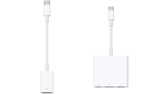 You'll want to buy MacBook accessories, including USB Type C adapters.