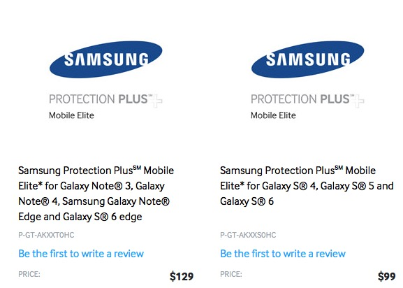 Samsung Protection Plus Mobile Elite is only available from Samsung.