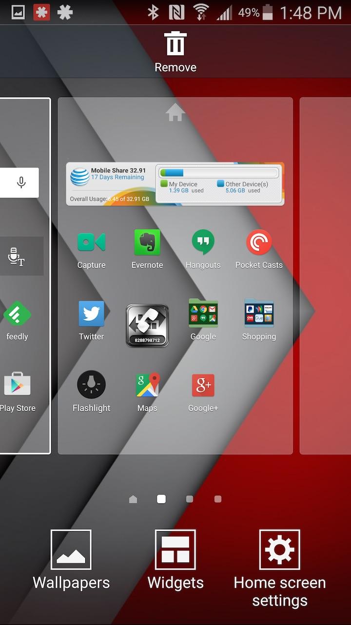 adding widgets in touchwiz
