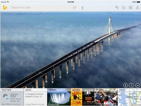 bing for ipad