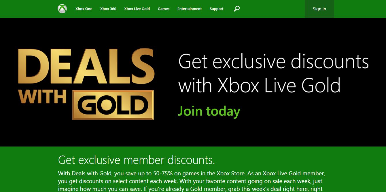How to Find the Xbox Deals with Gold