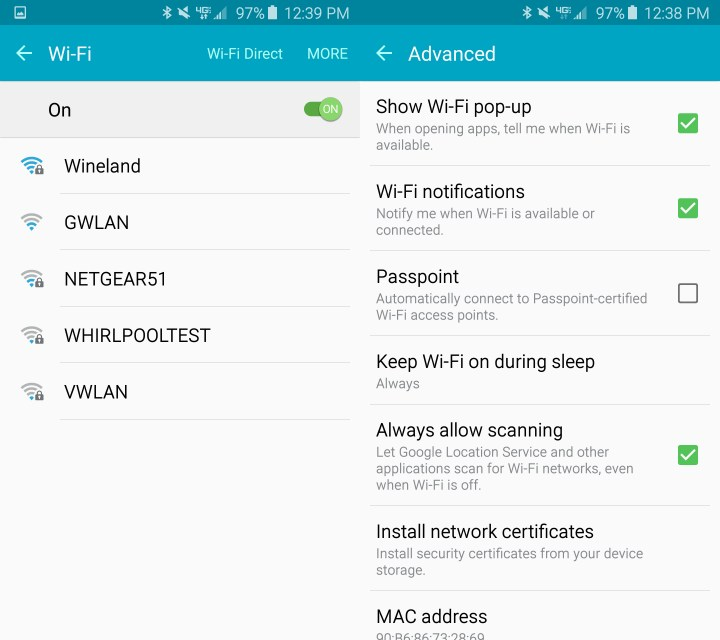 Fix common Galaxy S6 Edge WiFi problems.