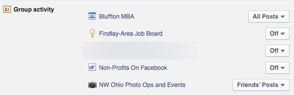 Edit your Facebook Group notification settings for more control.