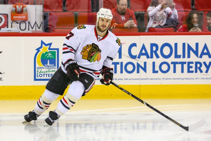 The Chicago Blakchawks vs Tampa Bay Lightning match up for the 2015 Stanley Cup Finals. photosthatrock / Shutterstock.com