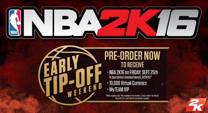 NBA 2K16 Release Date