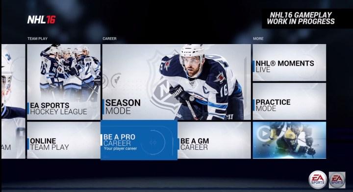 NHL 16 Offline Single Player Modes