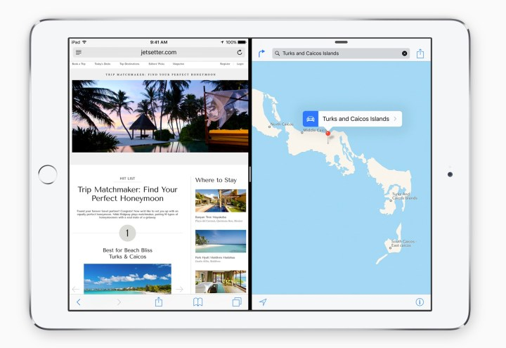 Use two apps at the same time on the iPad with iOS 9.