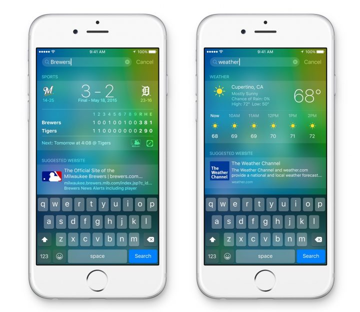 Siri is behind a better search feature on iOS 9.