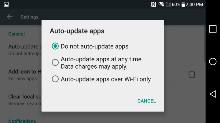 How to Disable LG G4 Automatic App Updates