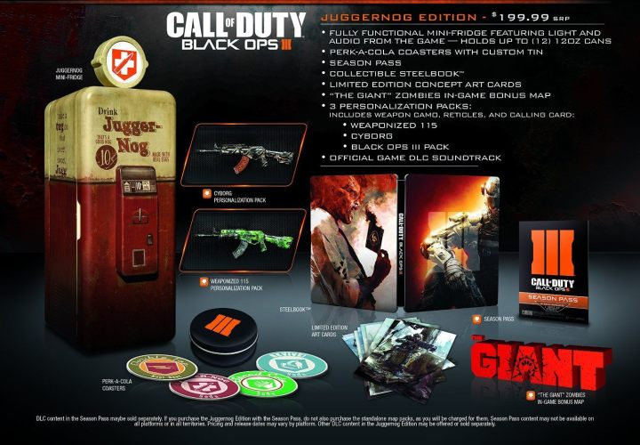 What Comes with the Black Ops 3 Juggernog Edition?