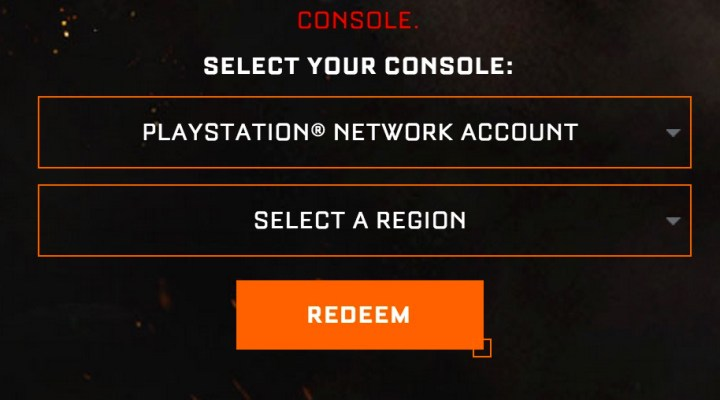 Choose the console you want to use your Call of Duty: Black Ops 3 beta key code on.