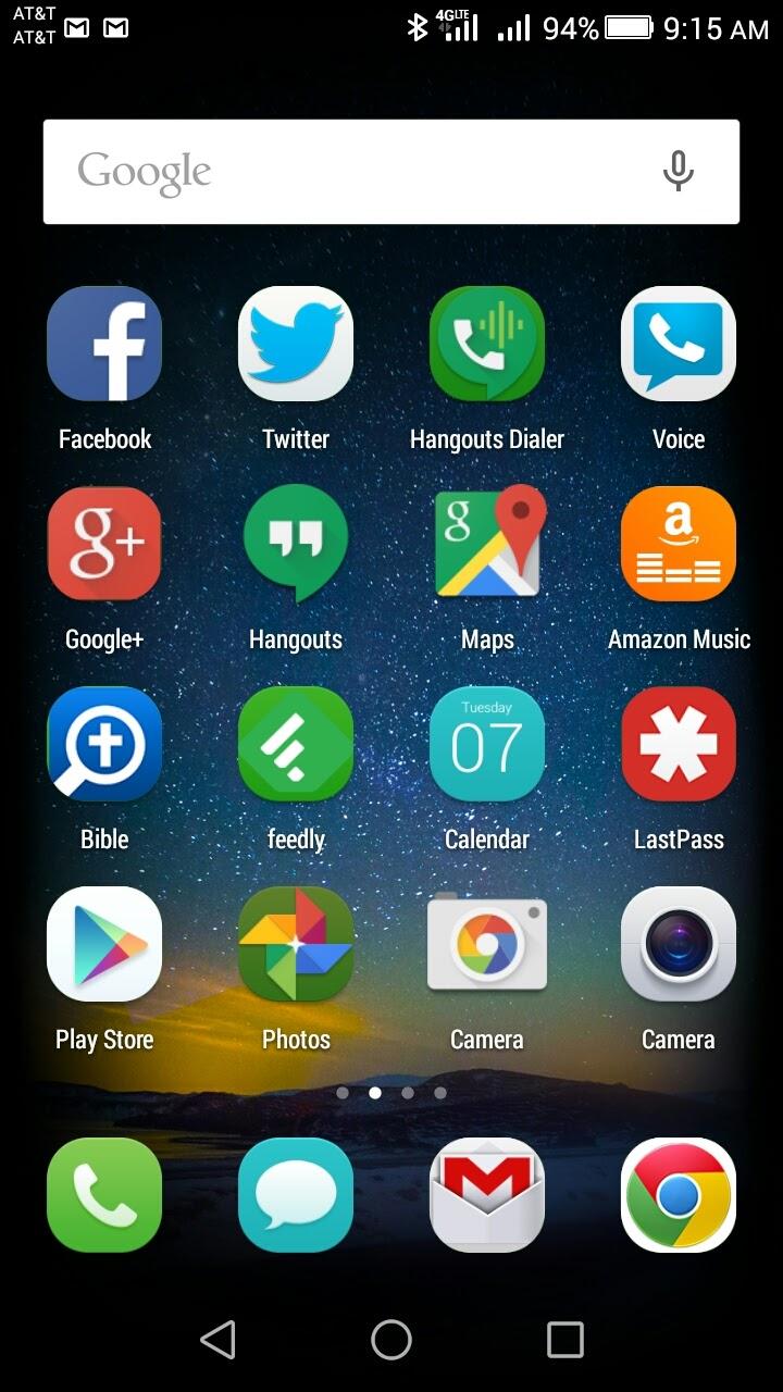 Huawei P8 Lite Home Screen
