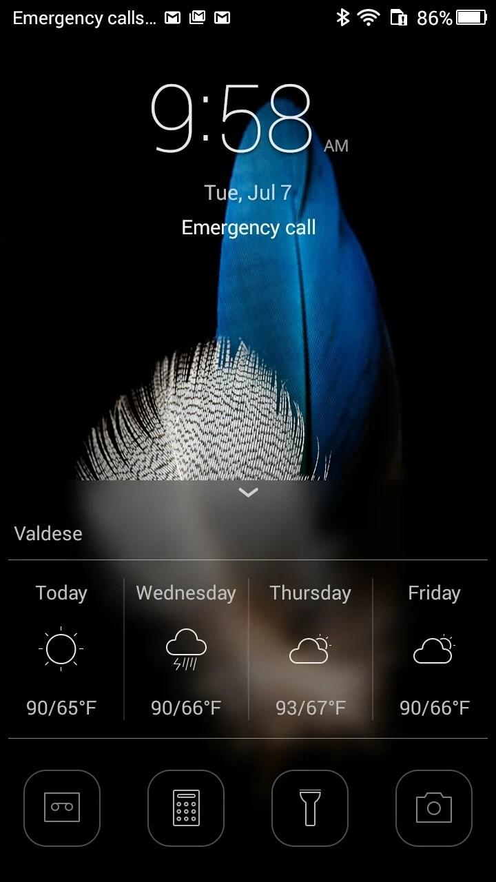 Huawei P8 Lite lock screen shortcuts