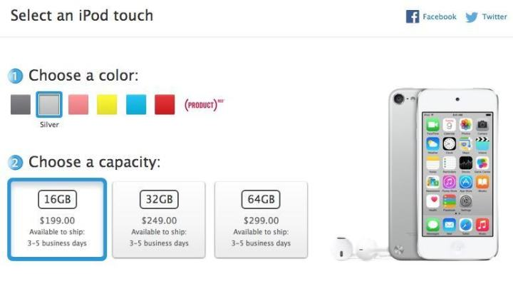 Current online iPod touch orders may not ship until after the rumored iPod touch 2015 release date.