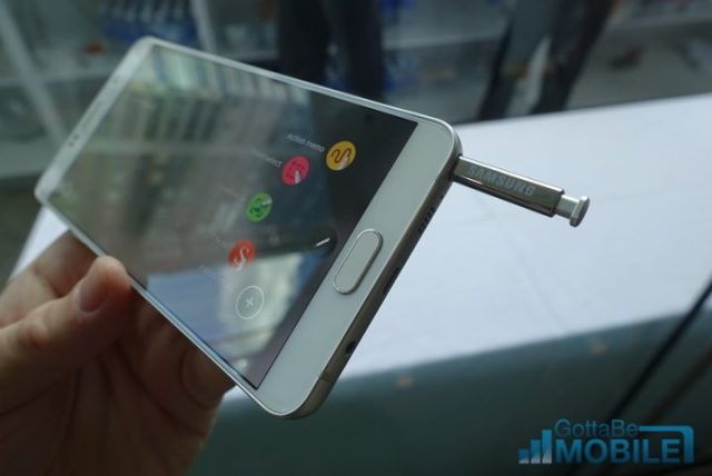 The Note 5 S-Pen Stylus is much improved, and spring loaded
